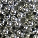 Picture of BD4RM11 4mm METALLIC SILVER round plastic beads