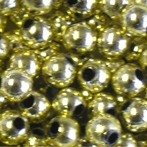 Picture of BD5RM3A  5mm METALLIC LIGHT GOLD round plastic beads