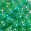 Picture of BD5RR9  5mm RAINBOW GREEN round plastic beads