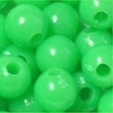 Picture of BD6R9  6mm LIME GREEN opaque matte round plastic beads