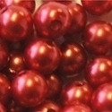 Picture of BD10R5 10mm red opaque round plastic beads