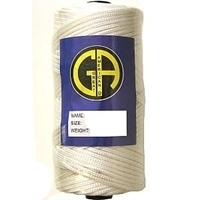 Picture of PFL3  length 1095m or 3592ft, tenacity 5.4kg or 11.90lb test apprx, weight 100g. white polyester twine - kite & fishing line [A46,C8F]