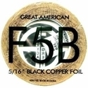 "Picture of FF5B  5/16"" x 100' Black Copper Foil 1.25 mil"