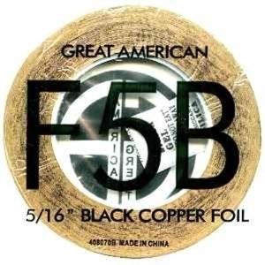 "Picture of FF5B  5/16"" x 100' Black Copper Foil 1.25 mil"