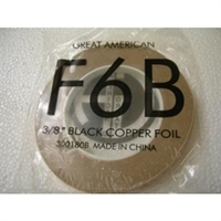"Picture of FF6B  3/8"" x 100' Black Copper Foil 1.25 mil"