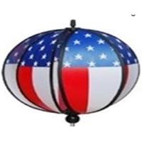 """Picture of WW104  American Flag Windball 11"""" x 17"""" [C5E,C8A]"""