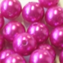Picture of BD14R4C  14mm hot pink opaque round plastic beads