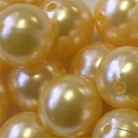 Picture of BD16R2A  16mm LIGHT YELLOW opaque round plastic beads