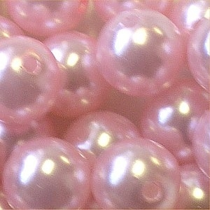 Picture of BD16R4A  16mm LIGHT PINK opaque round  plastic beads