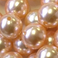 Picture of BD16R8A  16mm LIGHT ORANGE opaque round plastic beads