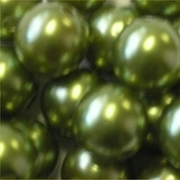 Picture of BD16R9C  16mm KHAKI GREEN opaque round  plastic beads