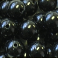 Picture of BD16R14  16mm BLACK opaque round  plastic beads