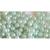 Picture of BD4R9A  4mm light green opaque round plastic beads