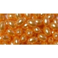 Picture of BD10V8  10mm orange oval shaped plastic beads
