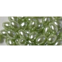Picture of BD10V9  10mm green oval shaped plastic beads