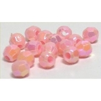 Picture of BD6F4  6mm PINK faceted shaped plastic beads