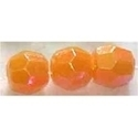 Picture of BD6FR8  6mm rainbow orange faceted shpaed plastic bead