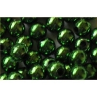 Picture of BD8RM9  8mm green metallic round plastic beads
