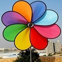 "Picture of WW112  8 Colors Large Rainbow Daisy Spinner 71"" x 59""[D1E]"