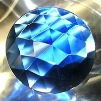 Picture of J04 50mm Faceted BLUE round