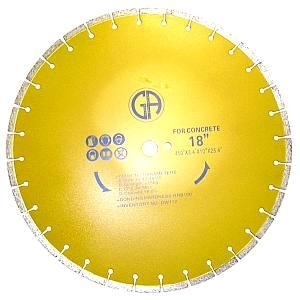 Picture of DW67  18IN Silver Brazed Segmented Saw Blade for Marble & Concrete