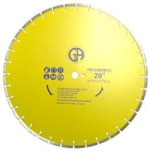 Picture of DL633  20IN Segmented concrete & marble laser welded saw blade