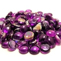 Picture of N18  10MM Purple Shiny Glass Gems