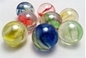 Picture of M141 16MM Clear marbles with various colored swirls