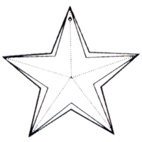 Picture of P41A  18mm Crystal Clear Star Pendant with mounting hole