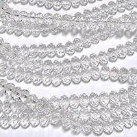 """Picture of BD400 Crystal 4MM Facated Bead - CLEAR  (Approx. 150-pcs on a 18"""" string)"""