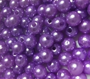 Picture of BD8R10A  8mm LAVENDER round plastic beads