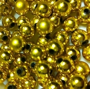 Picture of BD10RM3 10mm METALLIC GOLD round plastic beads
