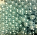 Picture of BD4R7A  4mm Light Blue colored opaque round plastic beads. apprx. 4400 pcs per cup