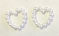 Picture of AC8H 8mm acrylic pearl beaded heart