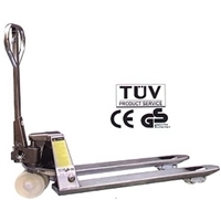 """Picture of PJ15  5500 lb, 27""""x48"""" Stainless Steel Pallet Jack - Pallet Truck."""