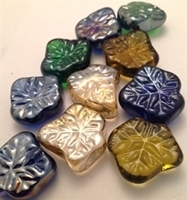 Picture of M72  Glass Gems Leaf Shaped. 16MM thick