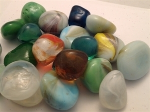 Picture of M73  Glass Gems Tumbled Stone 16MM thick