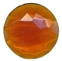 Picture of NJ222 Nordhauser Glass Jewel, Circle 30MM Amber