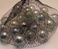 Picture of M226  1-in. Clear Shiny Glass Marbles