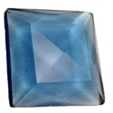 Picture of NJ415 Nordhauser Glass Jewel, Square 25MM Blue