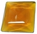 Picture of NJ414 Nordhauser Glass Jewel, Square 25MM Amber