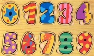 Picture of MGT4202 Wooden Number Puzzle Set