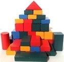 Picture of MGT5062 Wood Blocks Set 50pcs 25mm