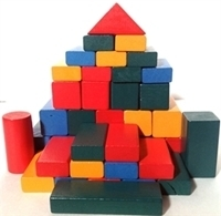 Picture of MGT5062 50pc Wood Blocks Set 25mm