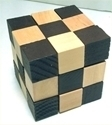 Picture of MGT0220 BRAIN TWISTER Wood Cube Puzzle
