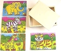 Picture of MGT4018 Animal Puzzle Set