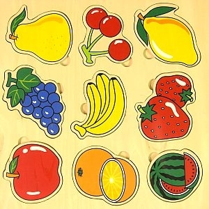 Picture of MGT4186 Wooden Fruit Puzzle Set