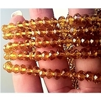 Picture of BD806  Crystal 8MM Bead - AMBER