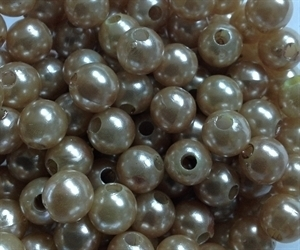 Picture of BD8R13A  8mm LIGHT BROWN round plastic beads