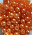 Picture of BD8R8  8mm ORANGE opaque round plastic beads